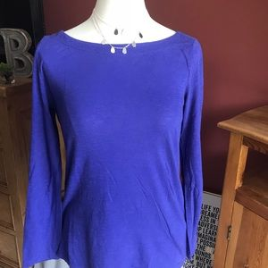 ++++Lovely purple long sleeves cotton top